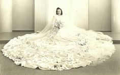 1940's bride. This couldn't possibly be parachute silk, could it!