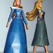 3-D Princess Aurora  #Disney #papercrafts