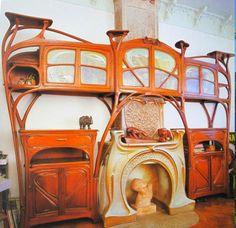 Art Nouveau - La Maison Coilliot - Cheminée et Boiseries - Hector Guimard - 1898 - 1900