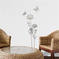 Shop ADzif Mia & Co Lugano Wall Decals at Lowe's Canada. Find our selection of wall decals & stickers at the lowest price guaranteed with price match. Wall Art Decor, Wall Murals, Garden Mural, Flower Wall Decals, Co Design, Lugano, Wall Decal Sticker, New Room, Child's Room