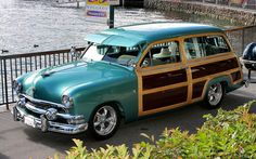 1951 Ford woody...Re-pin...Take care of your investment and look up #houseofinsurance #eugeneoregon