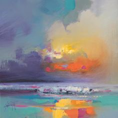 Cumulus Dissonance Study oil painting by scottish landscape artist Scott Naismith