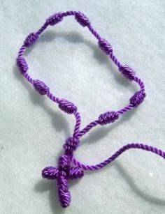 I just learned how to make these nylon cord rosaries.  Love them!