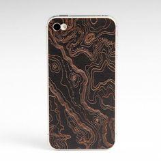 iPhone 4/4S Topo Back Cherry  by Lazerwood