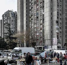 Housing complex in Banjica neighborhood, Belgrade, Serbia, built between 1972–78, Architects: Slobodan Drinjakovic, Branislav Karadzic and Aleksandar Stjepanovic. (c) BACU