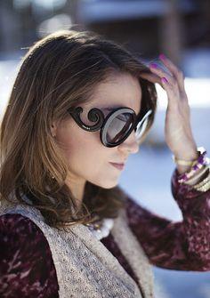 Prada Baroque Round sunglasses.