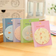 1 PCS Cute Round Memo Sticker Bookmark Index Tab Pads Flags Sticky Notes Message Note Scratch Pads-Random For Sale