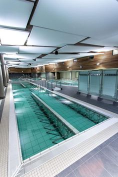 Thermal Baths of Balaruc. Balaruc-les-Bains, France. These acoustic clouds are both beautiful and functional in loud, indoor pool areas with lots of sound reverberation.  Architect & Project Lead: Vinci.  Installer: Telia.