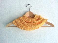 light yellow chunky scarf pattern shawl scarf knitting by ArtTaj