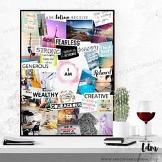 Make affirmations to the Universe of what you want in life using our vision board template. Make affirmations to the Universe of what you want in life using our vision board template. Planner Free, To Do Planner, Vision Boarding, Bullet Journal Vision Board, Vision Board Template, Vision Board Ideas Diy, Vision Boards Examples, Image Pinterest, Goal Board