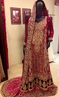 Bridal outfit by a Pakistani Fashion Designer, Aisha Imran