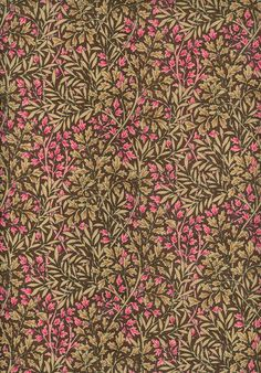 William Morris Small Pink and Beige Leaves F754-2