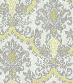 Going to make my curtains out of this material... going for the Gray and Yellow look.     Fabric: by Waverly can be purchased at Jo-Ann Fabrics