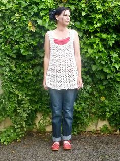 Crocheted Top... by Loving The Vintage, via Flickr