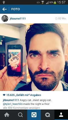 Derek is Grumpy Cat. Tyler Hoechlin - Teen Wolf