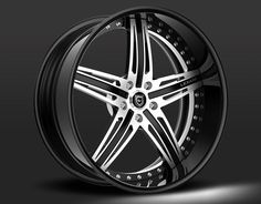 Lexani forged LF 732 luxury series double split 5 star wheels  Machine and black finish.