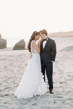 This ethereal Malibu wedding inspiration is perfect for beach brides Wedding Vendors, Wedding Gowns, Victoria Fashion, Beach Elopement, Groom Looks, Wedding Scene, Beach Wedding Inspiration, Intimate Weddings, California Wedding