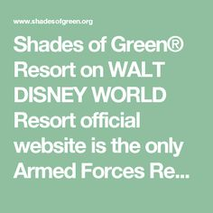 Shades of Green® Resort on WALT DISNEY WORLD Resort official website is the only Armed Forces Recreation Center (AFRC) located in the continental U.S. Shades of Green® on WALT DISNEY WORLD® Resort is a military resort serving the U.S. Army, Navy, Air Force, Marines, Coast Guard, National Guard, Reserves, Retirees, Military Community by giving special military rates and special military discounts with convenient and secure military conference facilities for a military reunion military…