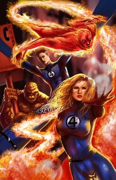 The Fantastic Four: artist irritatingly unknown