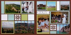 Italy travel scrapbook page layout