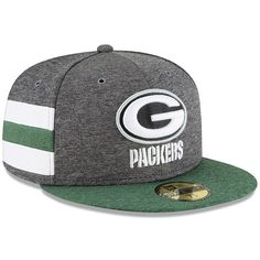ffff305e833a3d New Era Green Bay Packers Heather Gray/Green 2018 NFL Sideline Home  Graphite 59FIFTY Fitted Hat