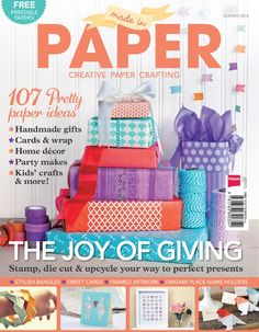 Paper Magazine, filled with free Printables/Templates for all paper crafts.
