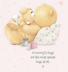 Forever Friends - A Mummy's hugs Forever Friends Cards, Cards For Friends, Cute Images, Cute Pictures, Calin Gif, Blue Nose Friends, Friends Image, Cute Clipart, Tatty Teddy