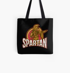 'Greek Spartan Warrior With Modern Illustration Concept Typography' Tote Bag by Gym Crush, Spartan Warrior, Your Brother, Weight Lifting, Great Gifts, Greek, Reusable Tote Bags, Typography, Concept