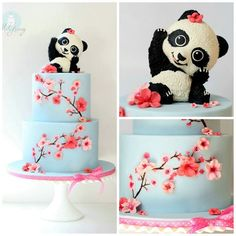 Image result for baby panda cake topper