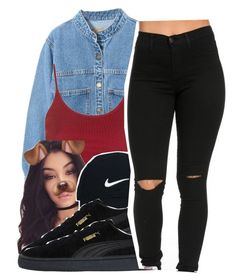 """Yeah, I Said It"" by queen-vanessa ❤ liked on Polyvore featuring WithChic, Topshop, Bellissima, Nike Golf and Puma"