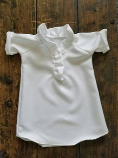 Baby girl baptism dress, baby girl christening dress, baby girl blessing dress, girl birthday dress, flower girl dress, girl white dress  This white dress is the perfect find for any occasion, whether a baptism or christening, birthday, church, photo shoot, wedding, party, or just for fun. It has an elegant feel with a ruffle collar. It goes perfectly with any of the faux fur vests in my shop. It pulls on over the head, and has one hidden button on the collar part of the dress.  If you like…