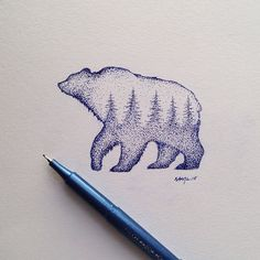 steelbison:#bear #illustration artist's actual name Sam Larsen