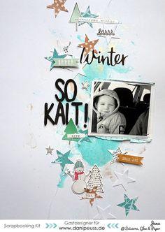 Layout von danipeuss.de Gastdesignerin Jana McCarthy mit dem Dezemberkit | #danipeuss #scrapbooking #cratepaper #winter #layout #dpkit