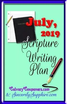 July 2019 Scripture Writing Plan -Overcoming | Sincerely, Sapphire