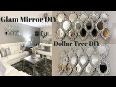 Best diy home decor projects dollar tree wall art ideas Mirror Wall Art, Tree Wall Art, Diy Wall Art, Diy Wall Decor, Decorative Wall Mirrors, Room Decor, Diy Mirror Decor, Mirror Crafts, Wall Decorations