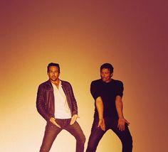 Sean Patrick Flanery & Norman Reedus.