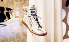 Forget the silver spoon, #MaisonMartinMargiela Metallic Sneakers