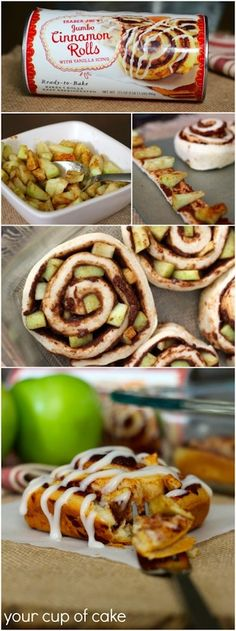 Apple Cinnamon Rolls from @Liz Mester Mester Mester Mester Huereque's Cup of Cake