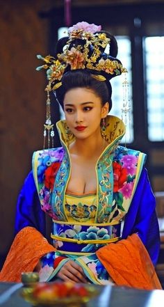 唐代女装 The Tang dynasty, the Han nationality trappings
