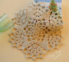 Pink Rose Crochet: Centrinho Festivo Estrela