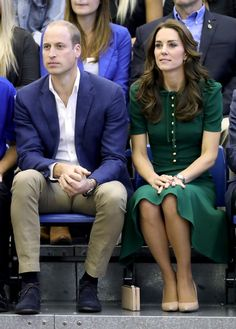 Kate Middleton Photos Photos - Prince William, Duke of Cambridge and Catherine Duchess of Cambridge watch a volleyball match on a visit to Kelowna University during their Royal Tour of Canada on September 27, 2016 in Kelowna, Canada. Prince William, Duke of Cambridge, Catherine, Duchess of Cambridge, Prince George and Princess Charlotte are visiting Canada as part of an eight day visit to the country taking in areas such as Bella Bella, Whitehorse and Kelowna. - 2016 Royal Tour To Canada Of…