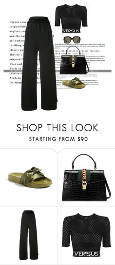 """Untitled #1238"" by marjanne-mestilainen ❤ liked on Polyvore featuring Puma, Gucci, Off-White and Versus"
