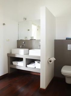 Double sink layout idea with storage open storage
