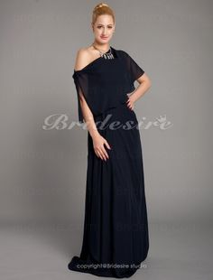 Sheath/Column Chiffon Floor-length Strapless Mother Of The Bride Dress With A Wrap - $99.99