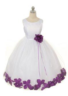 Purple Flower Petal Girl Dress