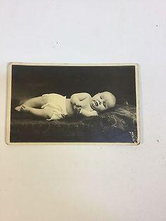 Post-Mortem-Antique-Baby-Post-Card-Thomas-Eugene-3-Months-Old