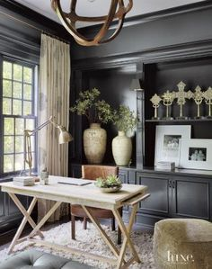 Contemporary Black Library---This is an INCREDIBLE color palette. Any POP of color would work here! eye candy!!