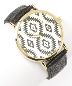 Black Aztec Watch