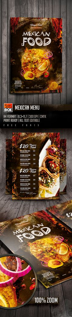 Mexican Menu on Behance