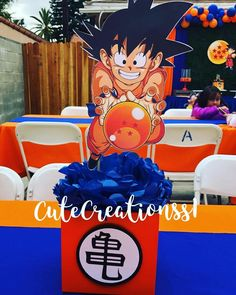 Goku Birthday, Dragon Birthday, Dragon Party, 1st Boy Birthday, Goku Y Vegeta, Kid Goku, Ball Birthday Parties, Birthday Party Themes, Baby Gender Reveal Party